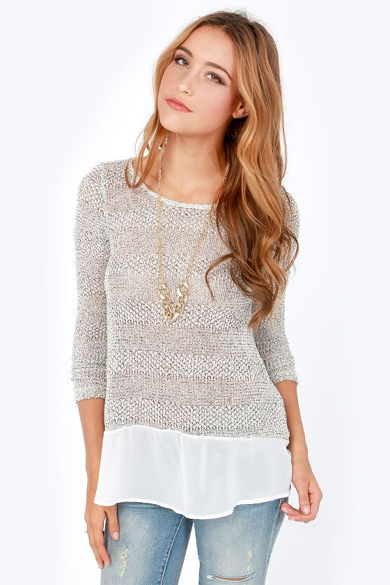 ivory sweater top
