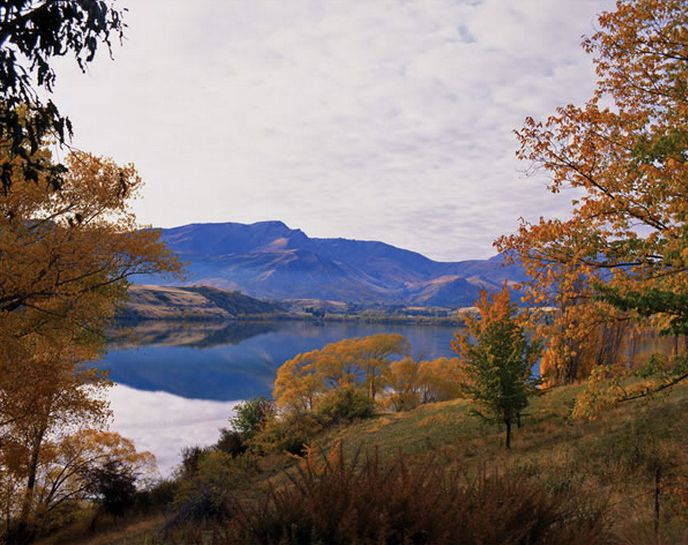 Lake Hayes by Nathan Secker - canvas art-print available from imagevault.co.nz