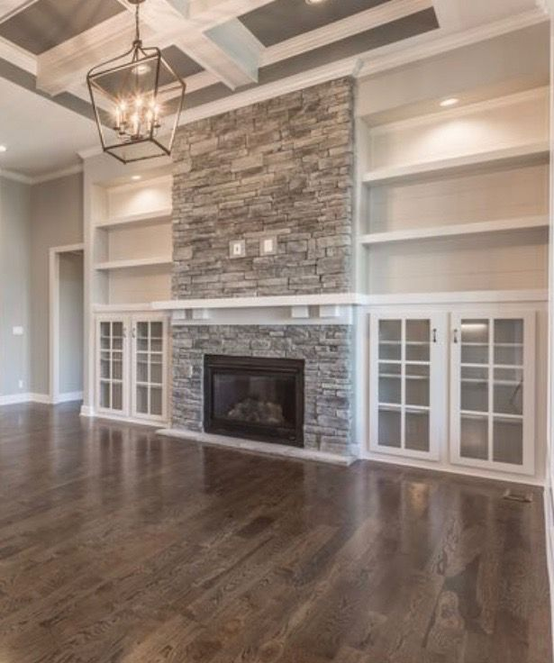 Elegant Stone Fireplace Adds Style To Any Room Achieve This Look With Glen Gery Visit Www Glengery Com Explore Fireplace Built Ins Home Fireplace Cozy House