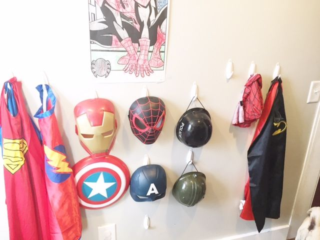 Superhero dress-up storage
