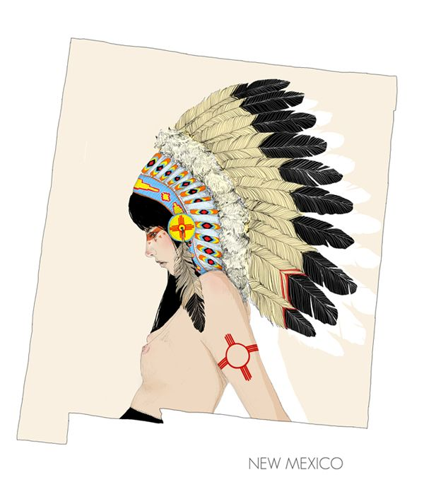 The self-taught San Franciscan artist Charmaine Olivia is very talented at painting and drawing these modern tattooed Indian/pirate-Pin-up models.  She first started drawing with soy sauce on napkins but has since upgraded to paper and paint and now is an artist drawing these beautiful women.