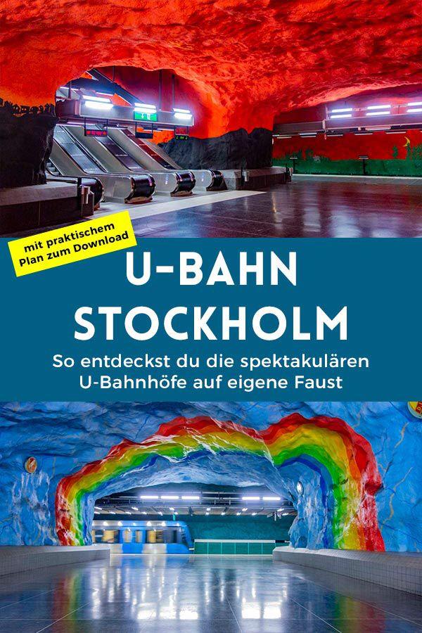 U-Bahn-Kunst in Stockholm: So entdeckst du die bunten U-Bahnhöfe