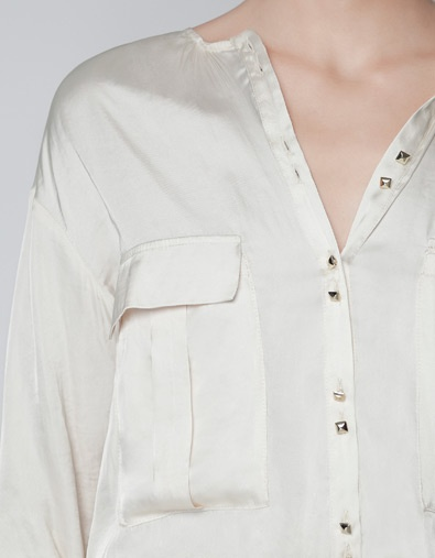 BLOUSE WITH LARGE POCKETS - Shirts - Woman - ZARA France