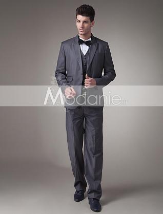 Attrayant costume homme deux boutons nœud papillon en tissu satin sur mesure [M1407095881]