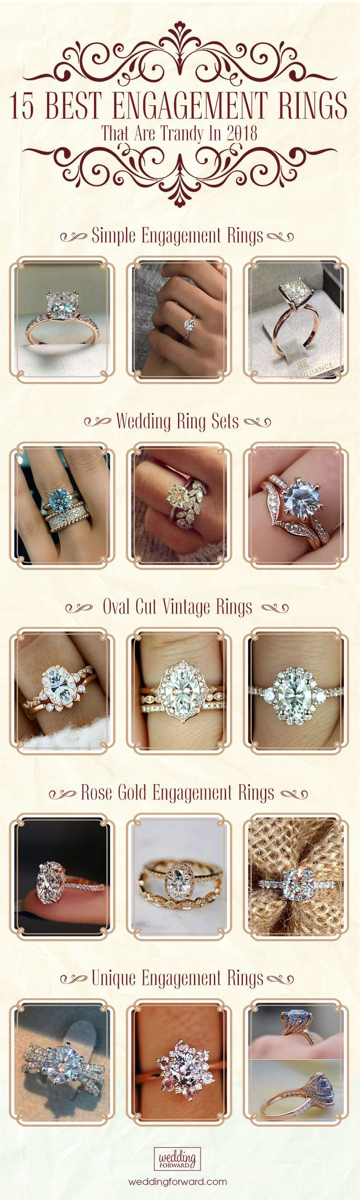 10 Fresh Engagement Ring Trends For 2018 ❤️ Ring trends change every year. Look at the gallery with the 60 TOP engagement ring photos. Only hottest engagement ring trends! Make her say 'yes'! See more: weddingforward.com/ring-trends/ #engagement #rings