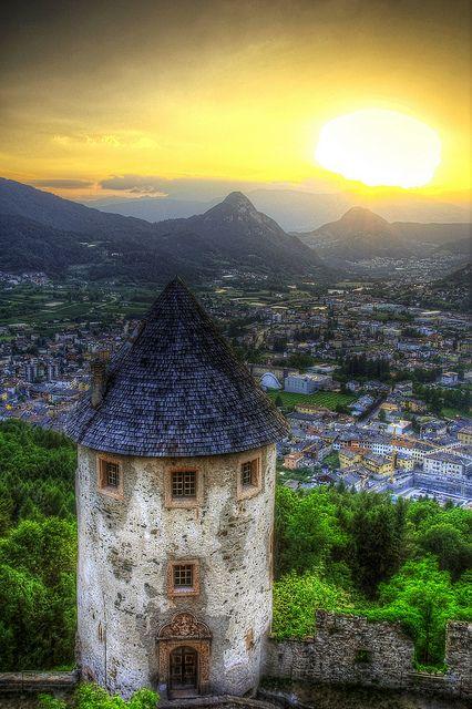 Trentino sunset, Italy Trentino , province of south Tyrol, Trentino alto Adige region Italy