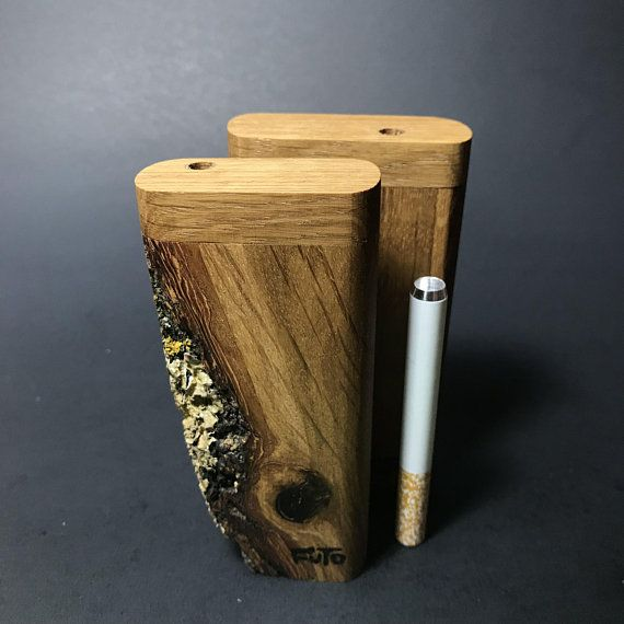 """Hand Made Wooden Dugout 4/"""" Wood Dugout with 3 /"""" Bat Pipe"""