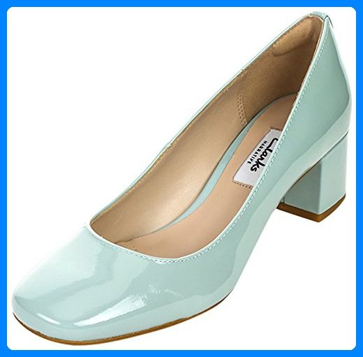 Clarks Chinaberry Gem, Damen Pumps, Blau (Aqua Patent), 37.5 EU (4.5 Damen UK) - Damen pumps (*Partner-Link)