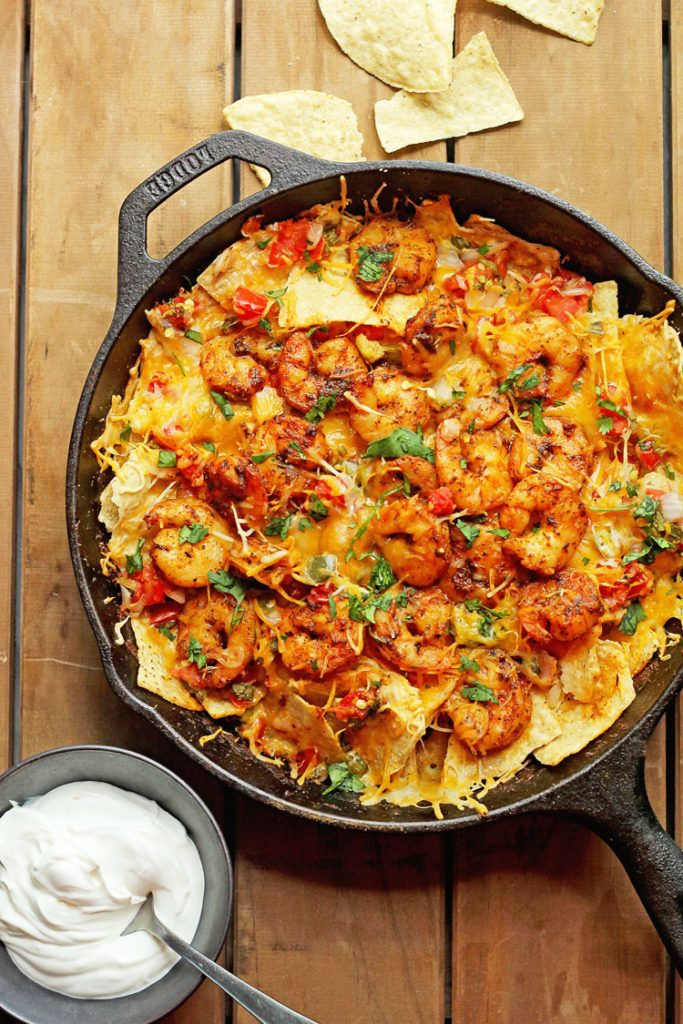 Blackened Shrimp Nachos - So Delish and So easy- A Game Day and Super Bowl MUST!| Grandbaby Cakes