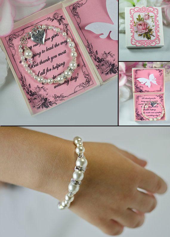 flower girl bracelet flower girl jewelry flower girl by TopGracia