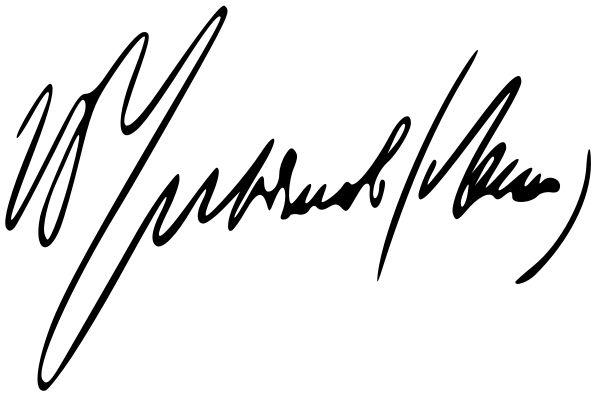 Dit is de handtekening van Lenin. Hier mee heeft hij veel contracten getekend.