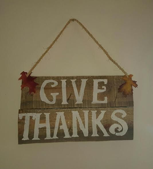 Fall Pallet Sign 'Give Thanks' by LuxeCoBoutique on Etsy