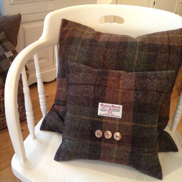 autumn bracken harris tweed cushion by the tweed workshop at mansefield studios | notonthehighstreet.com