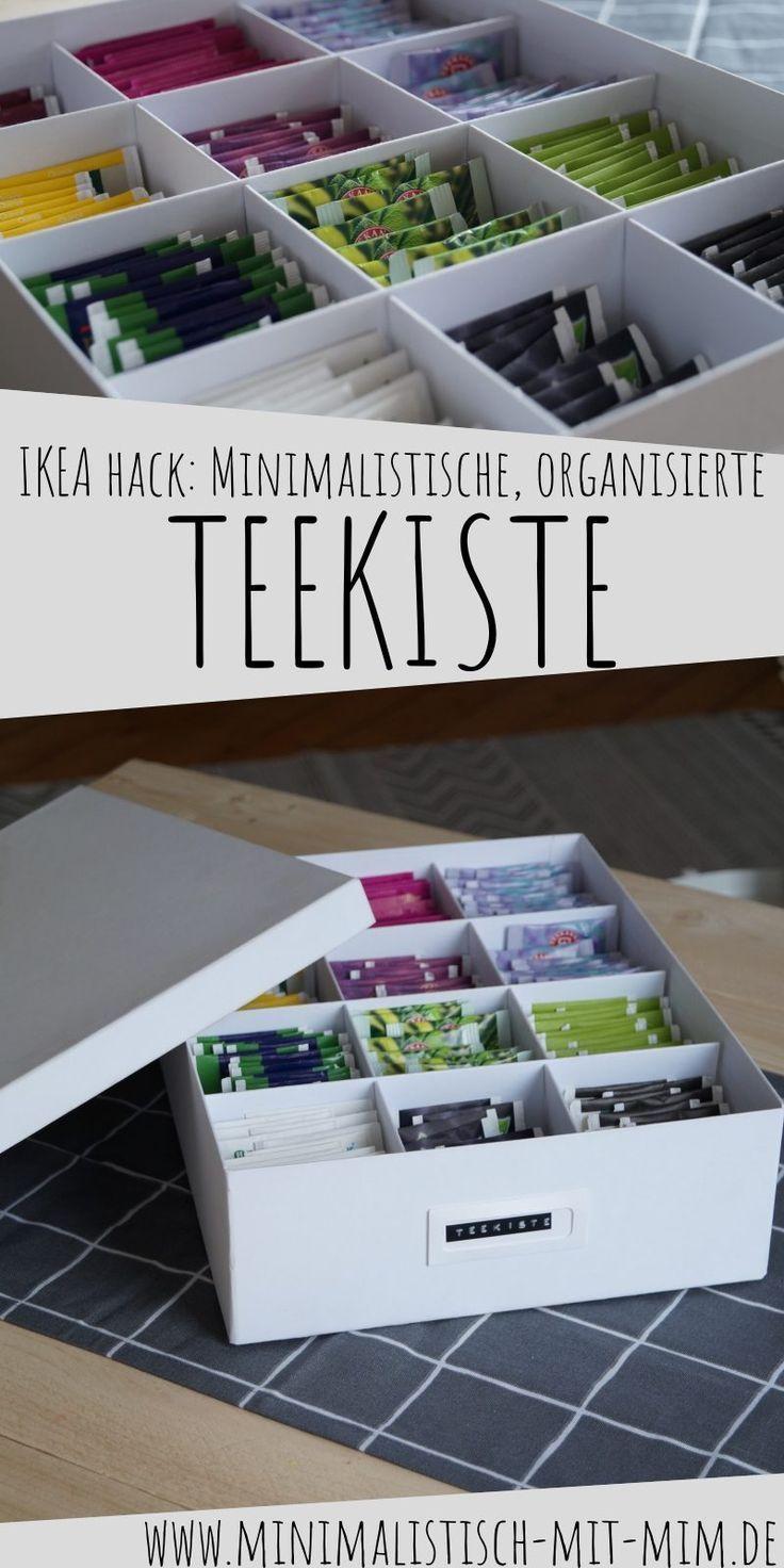 Diy Ikea Hack Tjena Box Minimalistische Teekiste Teebox