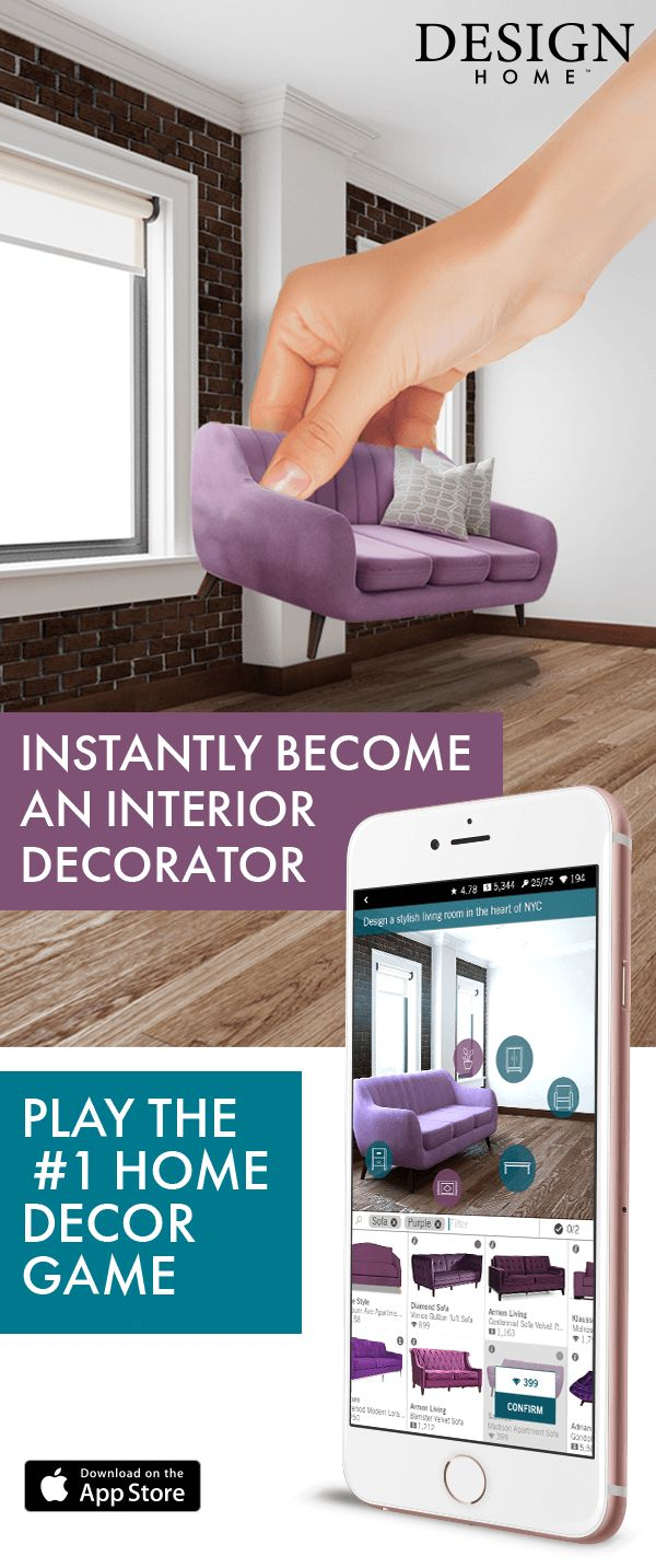 Love home decorating? Play Design Home! If you daydream about designing beautiful, unique interiors for your many fantastic homes, you can now bring your design dreams to life in this visually stunning 3D experience. Join millions of design and home decor lovers to discover, shop items you love, style gorgeous rooms and get recognized for your creativity!�