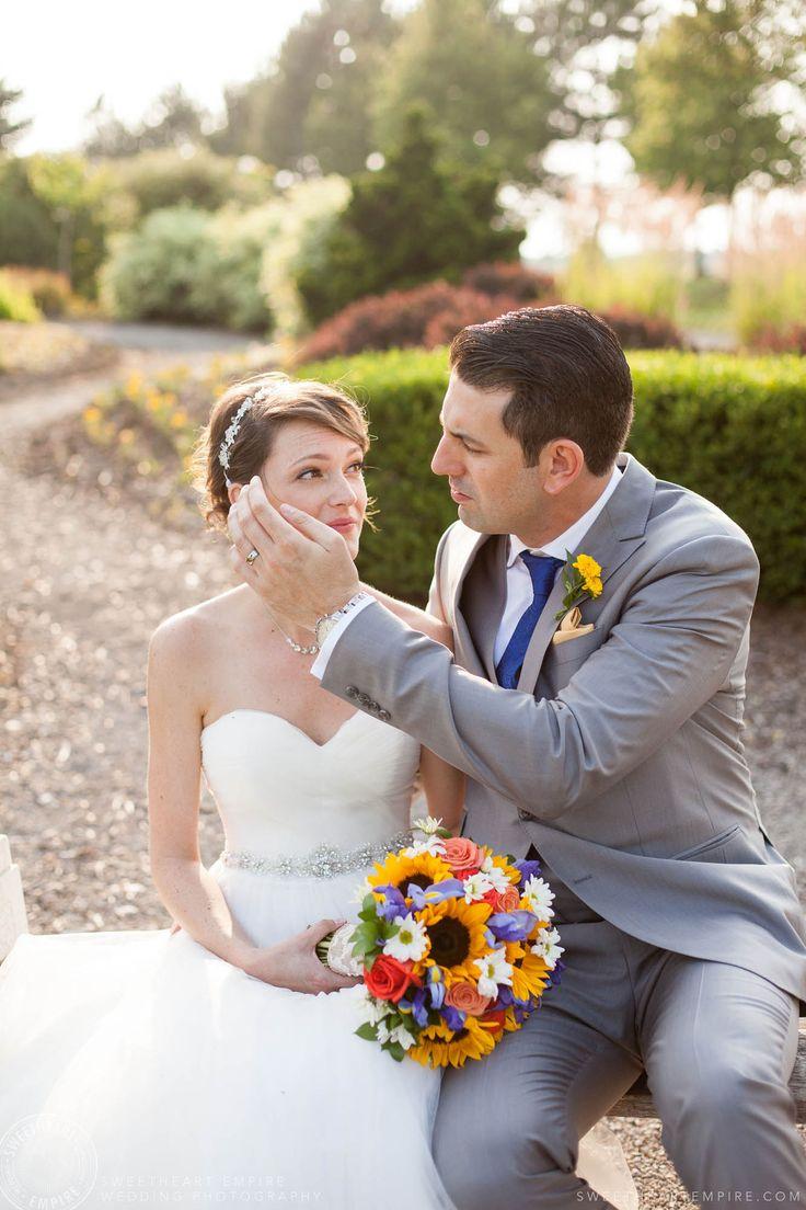 Rockway Vineyards Wedding, Niagara - The look of love. #sweetheartempirephotography