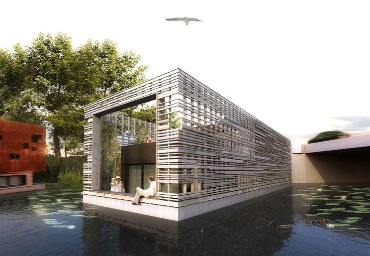 Hausboote, Hausboote Hamburg, Schwimmhäuser und Wohnen auf dem Wasser - > Typ A