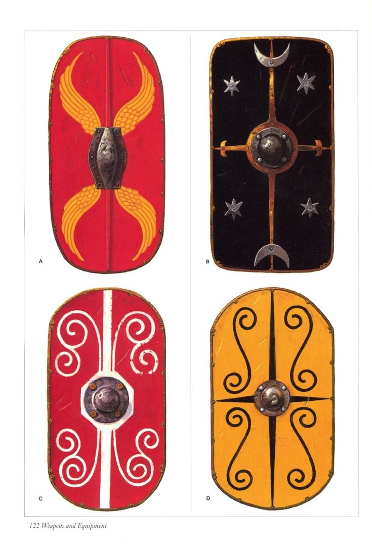 Late Republican and early Imperial Roman shields (Roman Army - Brasseys History of Uniform).