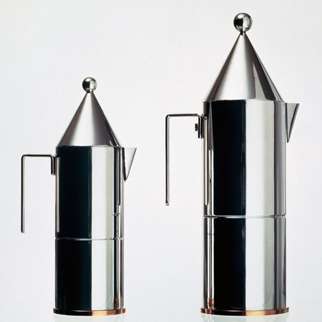 La Conica espresso maker by Aldo Rossi for Alessi