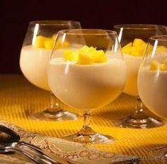 Recept Vegan Mango Mousse Heerlijk toetje met verse mango, kokosroom en agar agar.