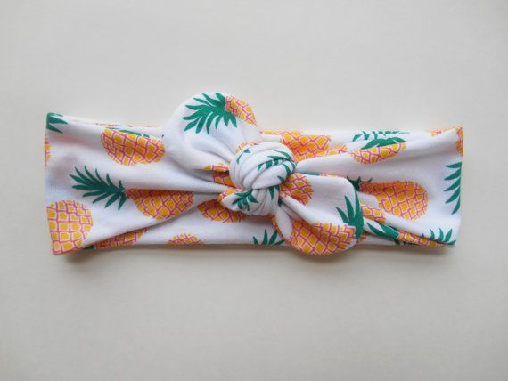 Pineapple Knotted Headwrap by missgigglebuns on Etsy