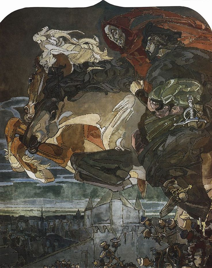 Stunning  Mikhail Vrubel Fight of Faust and Mephisto