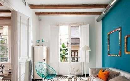 Abbinare i colori delle pareti - Azzurro e bianco