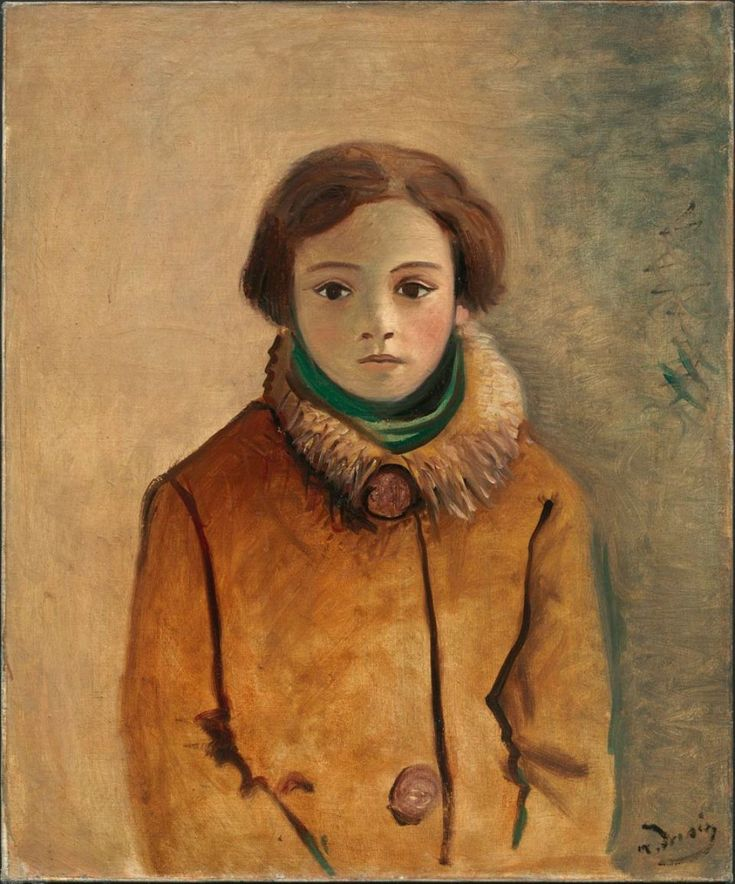 André Derain (French: 1880‑1954) - Genevieve Taillade in an Orange Jacket 1928