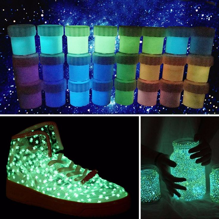 Luminous paint Pigment Phosphor paint Powder  DIY Luminescent paint Glow at Night Chic body paint 13 Colors For choose A4
