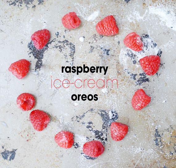 raspberry ice-cream oreo sandwich.....check my other pin for picture ...