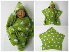stern schlafsack pucktuch swaddle fleece baby wrap von bighead5005 auf DaWanda.com