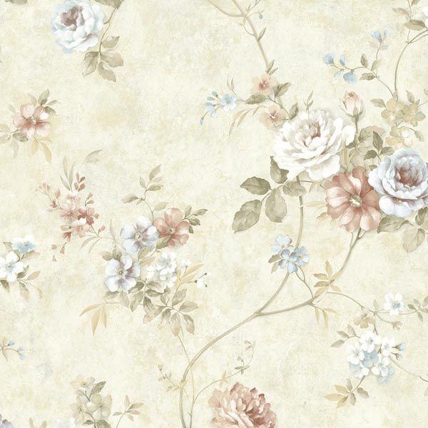 ARB67502 Mauve Floral Trail - Arbor Rose - Arbor Rose Wallpaper by Warner Studios