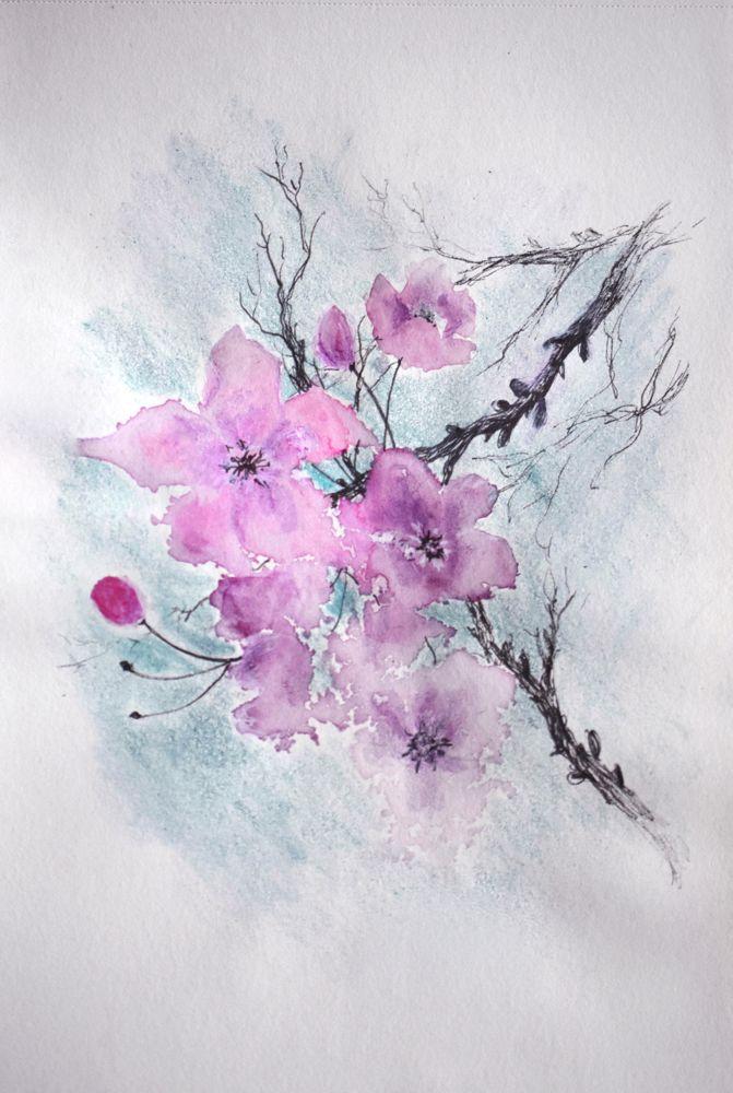 Wiosna Rysunek Cienkopisami Kredkami I Bialym Dlugopisem Podmalowany Akwarelami Maple Leaf Tattoo Leaf Tattoos Watercolor