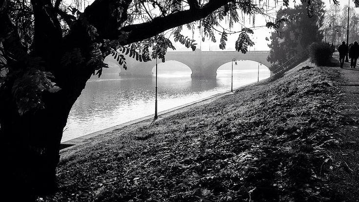 Torino. La magia del fiume. Autunno.