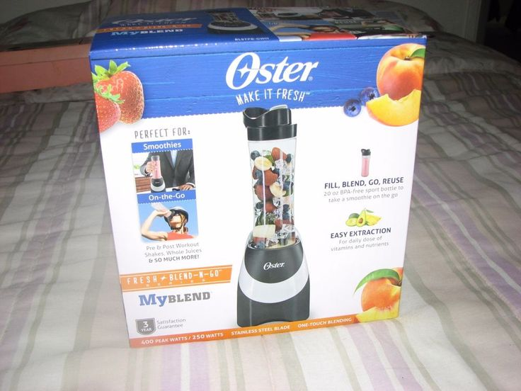 Oster BLSTPB-GWH My Blend 250-Watt Blender with Travel Sport Bottle #Oster
