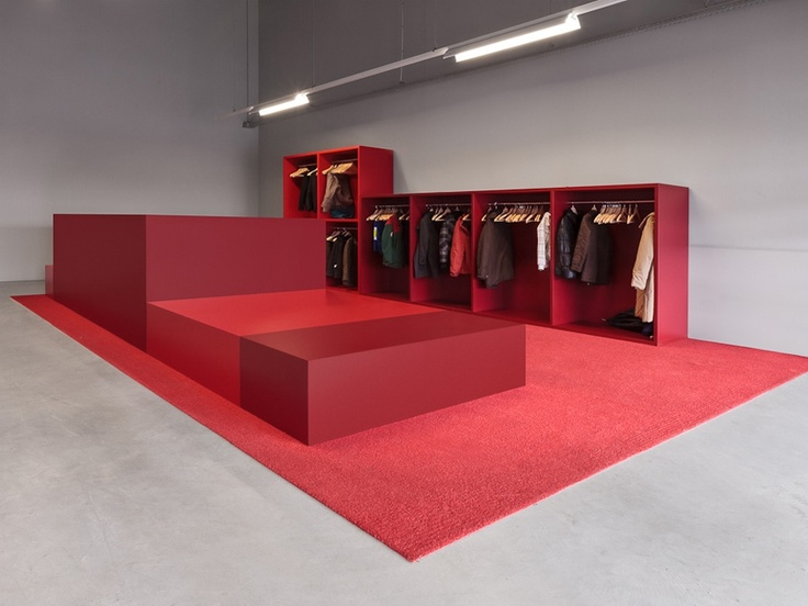 Red Trade Show Booth Design   Pop up retail