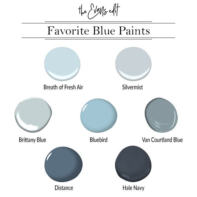 All Time Favorite Blue Paint Colors The Evans Edit Breath Of Fresh Air 806 By Benjamin Moore Silvermi Blue Paint Colors Best Blue Paint Colors Blue Paint