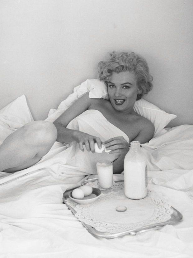 Marilyn Monroe breakfast