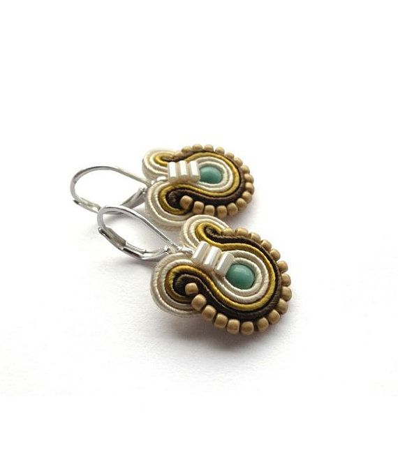 Hey, I found this really awesome Etsy listing at https://www.etsy.com/listing/153992216/mustard-earrings-teal-and-brown-earrings