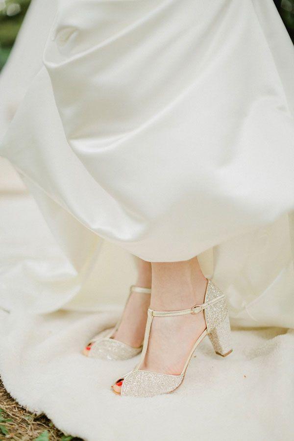 sandali da sposa glitter