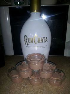 Rum Chata Pudding Shots ~ oh My.... Here's the recipe: 1 4 oz pkg instant chocolate jello pudding 1 cup milk 1 cup Rum Chata 1 8 oz container cool whip Mix milk, pudding and Rum Chata till thickened, gently mix in cool whip with spatula, pour (kinda thick but not set yet) into plastic jello shot cups. Put them in a cake pan in the freezer for a few hours then enjoy! Will not freeze hard due to alcohol in them! Delish!
