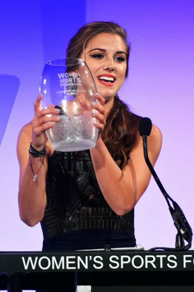 And named the Sportswoman of the Year (for a team sport). | 25 Reasons Why Alex Morgan Is The Perfect Lady