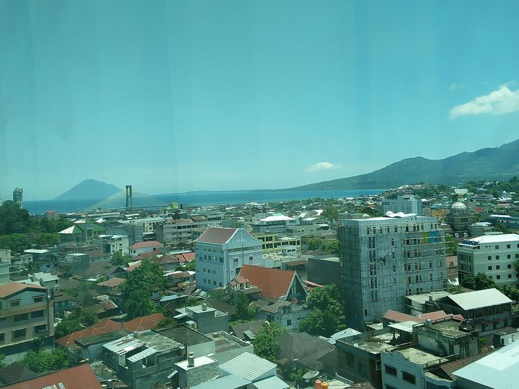 Manado city when I visited him, loved the moment when i with him