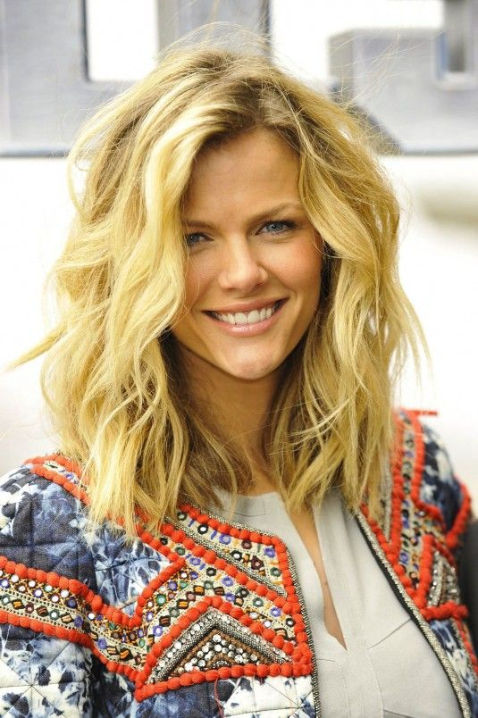 Brooklyn Decker. I love the length, the messy waves...the color. It's perfect.