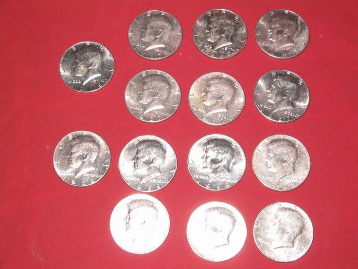 *LOT* 1966 - 1969 Kennedy Silver Half Dollars - $7.00 Face - +$20 Silver value