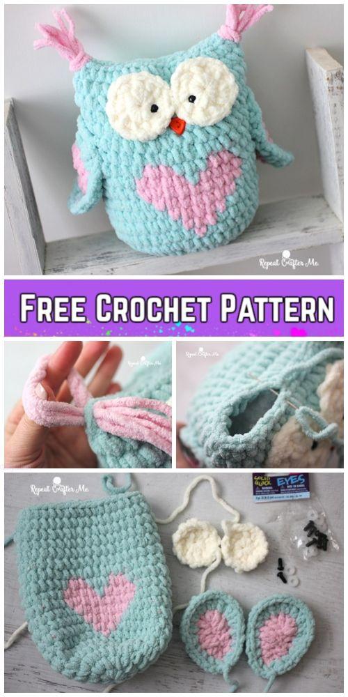 Crochet Valentine Heart Owl Free Crochet Pattern Paid Crochet