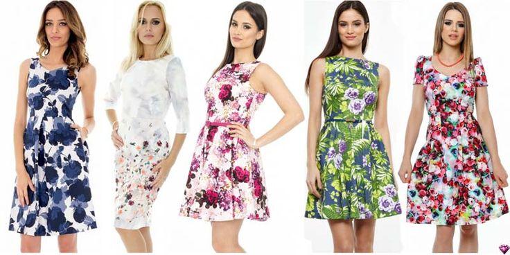 Modele de Rochii cu Imprimeu Floral Pentru Primavara-Vara 2016