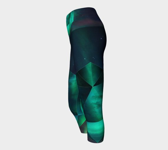 Northern lights yoga leggingsyoga pantsyoga by OkopipiDesign