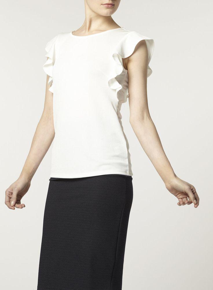 Cremefarbenes Rüschenoberteil - Blusen, T-Shirts und Tops - Bekleidung - Dorothy Perkins Deutschland