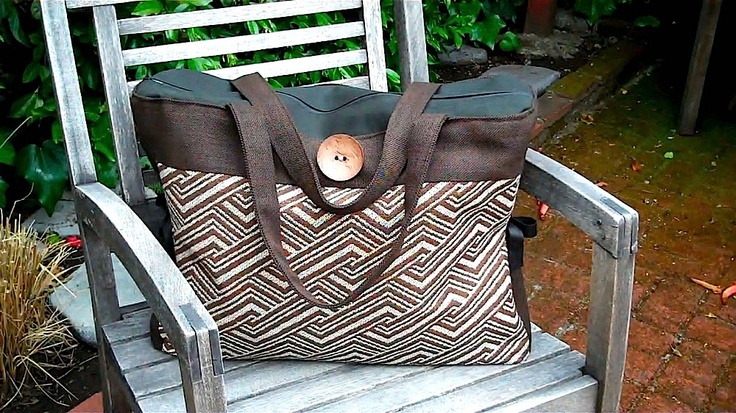 Coconut Luggage Bag made from recycled remnants.